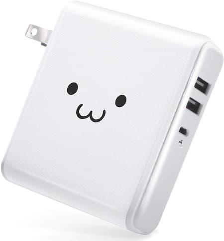 エレコム モバイルバッテリー ホワイトフェイス EC-M02WF