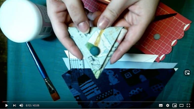 針糸不要オリジナル三角コインケース