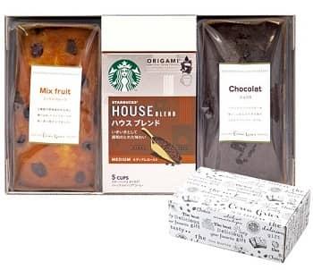 参照:【楽天】 スターバックス オリガミコーヒー パウンドケーキセット 3個入