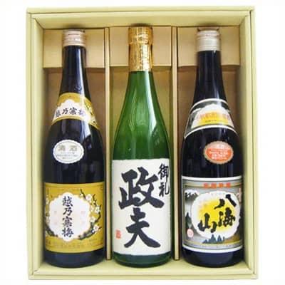 参照:日本酒 越乃寒梅 八海山と名前入り高野酒造辛口純米酒 飲み比べセット