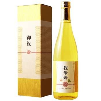 参照:【楽天】米寿祝い専用 金箔入り日本酒 純米大吟醸】 720ml [化粧箱入り]