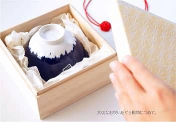 【楽天】桐箱入り てのひら富士茶碗