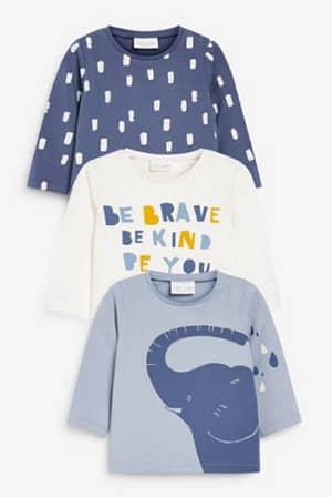 参照:ゾウ Tシャツ 3 枚パック (0か月~3 歳)