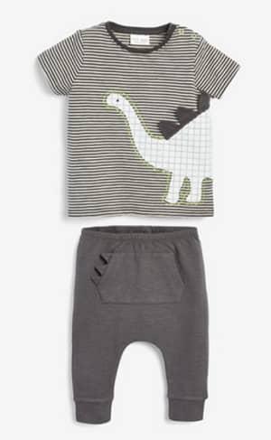 参照:恐竜柄 Tシャツ&レギンスセット (0 か月~2 歳)
