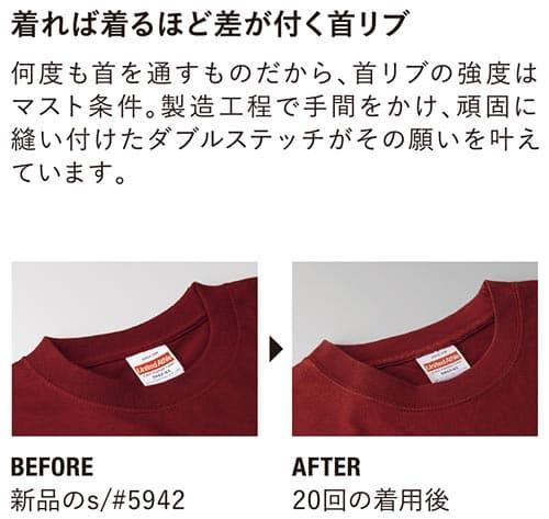 ハイクオリティTシャツの首リブ