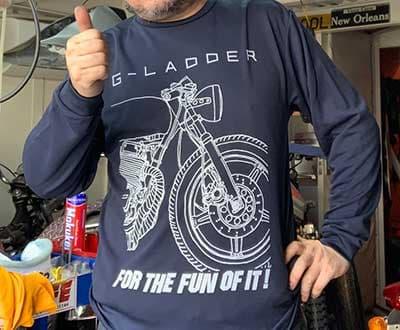 スポーツドライロングTシャツのプリント作成事例:G-LADDER さん