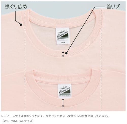スリムTシャツの襟ぐり