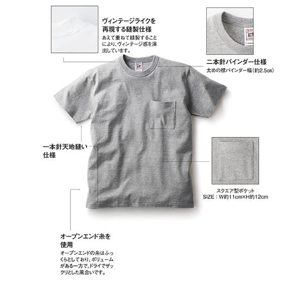 バンダーネックTシャツの製品仕様