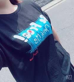 レギュラーフィットTシャツのプリント作成事例:ちたん さん