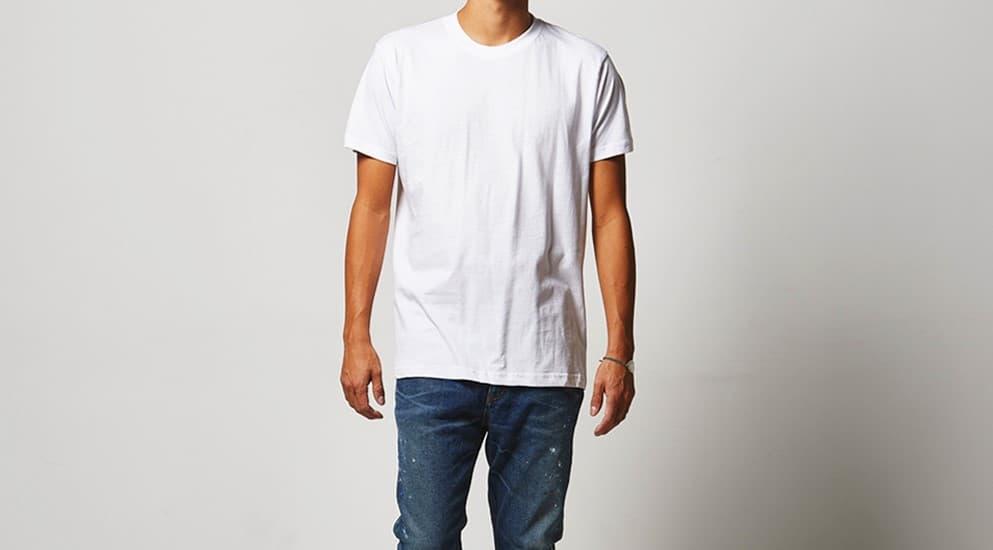 男性モデル 身長182cm ホワイト Mサイズ着用