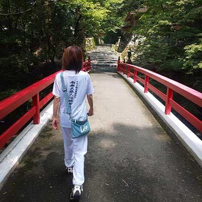 ファンクショナルドライTシャツのプリント作成事例:はんぺん和尚 さん