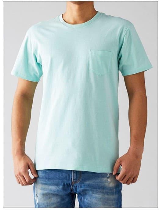 ポケットTシャツの着用イメージ:モデル 身長175cm Mサイズ着用