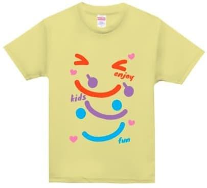 ドライアスレチックキッズTシャツのデザインプリント例