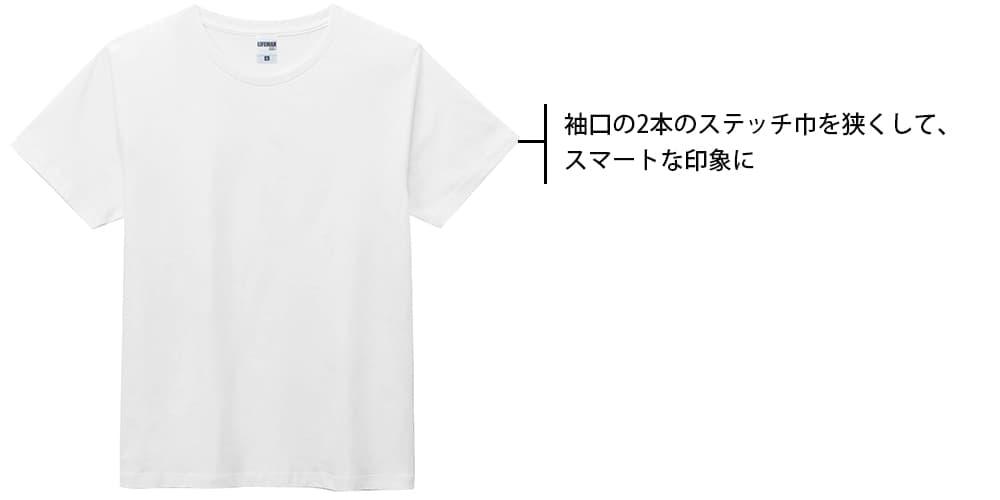 ユーロホワイトTシャツの袖口