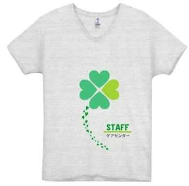 トライブレンドVネックTシャツのデザインプリント例