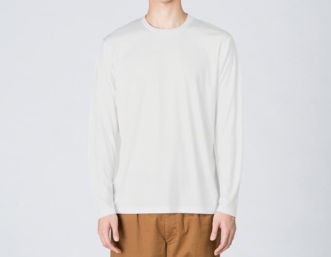 男性着用イメージ:モデル身長184cm ホワイト Lサイズ着用
