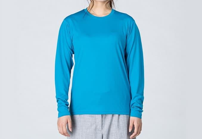女性着用イメージ:女性モデル:身長161cm ターコイズ SSサイズ着用