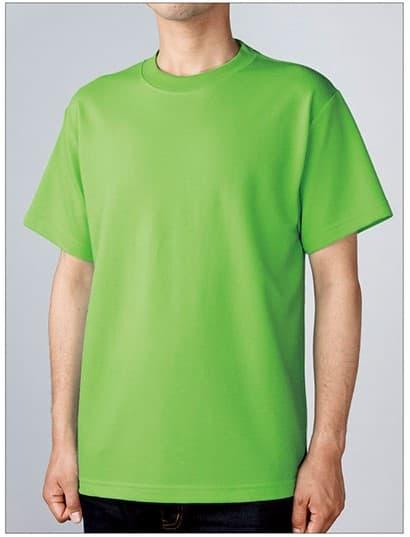 ハニカムTシャツの着用イメージ:モデル 身長175cm Mサイズ着用
