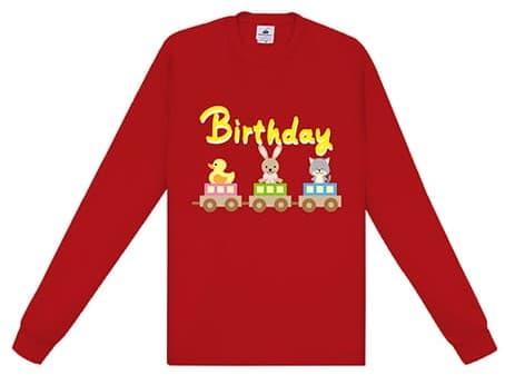 ファイバードライロングスリーブTシャツのプリント例