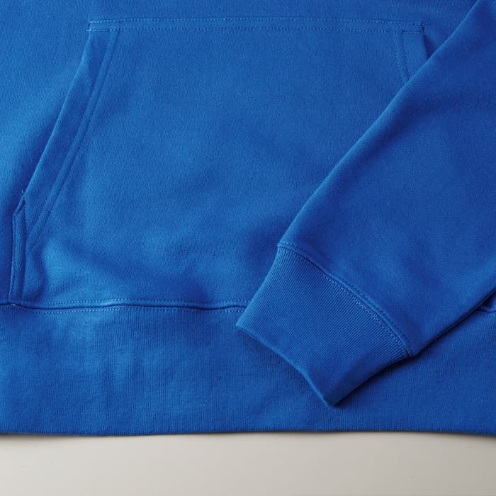 袖口・裾下の身頃とリブのシームラインは、丈夫なダブルステッチ仕上げ