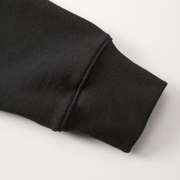 袖口は2X2(ツーバイツー)のリブ仕様で丈夫なダブルステッチ仕上げ