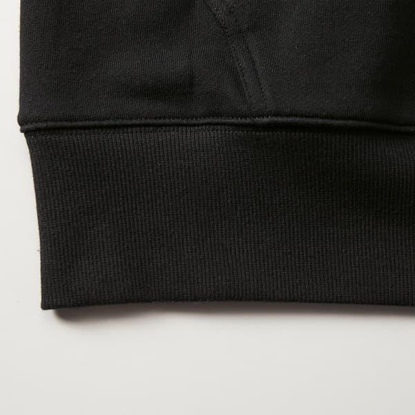 裾リブは2X2(ツーバイツー)のリブ仕様で丈夫なダブルステッチ仕上げ。