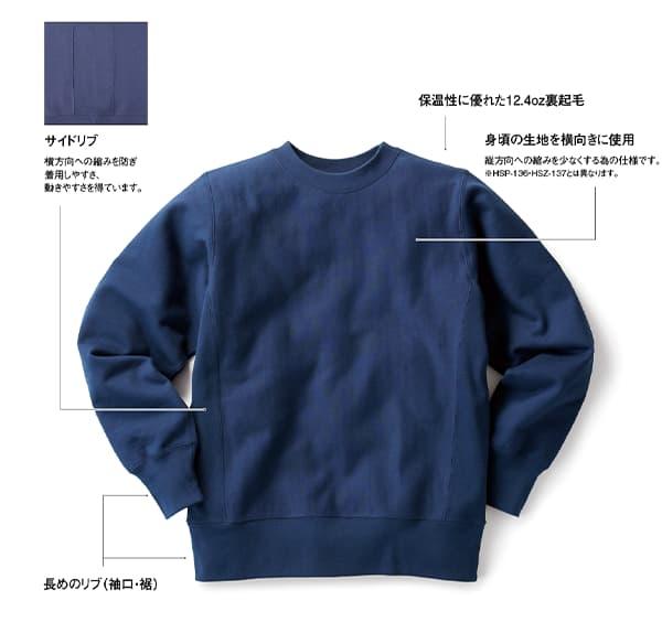 ヘビーウェイトスウェットシャツの詳細
