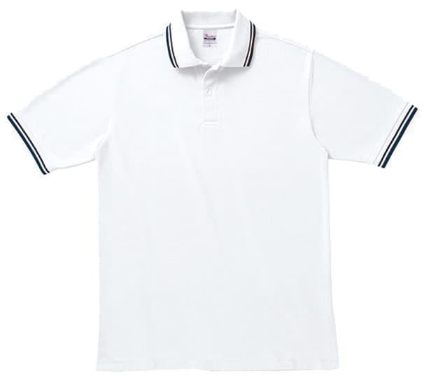 ラインポロシャツ ホワイト