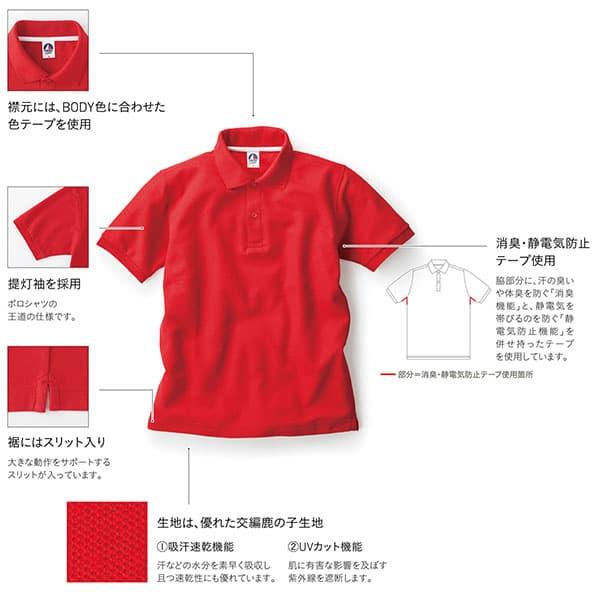 ベーシックスタイルポロシャツの機能