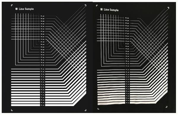 左:PCディスプレイ上の表示、右:実際の仕上がり_ブラック生地