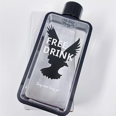 フレームスクエアボトルのプリント作成事例:FREE さん