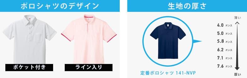 ポロシャツの生地やデザイン