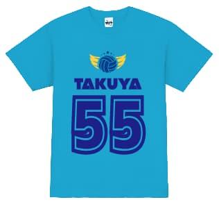 背番号を使ったTシャツデザイン