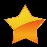 黄色のメタリック調の星