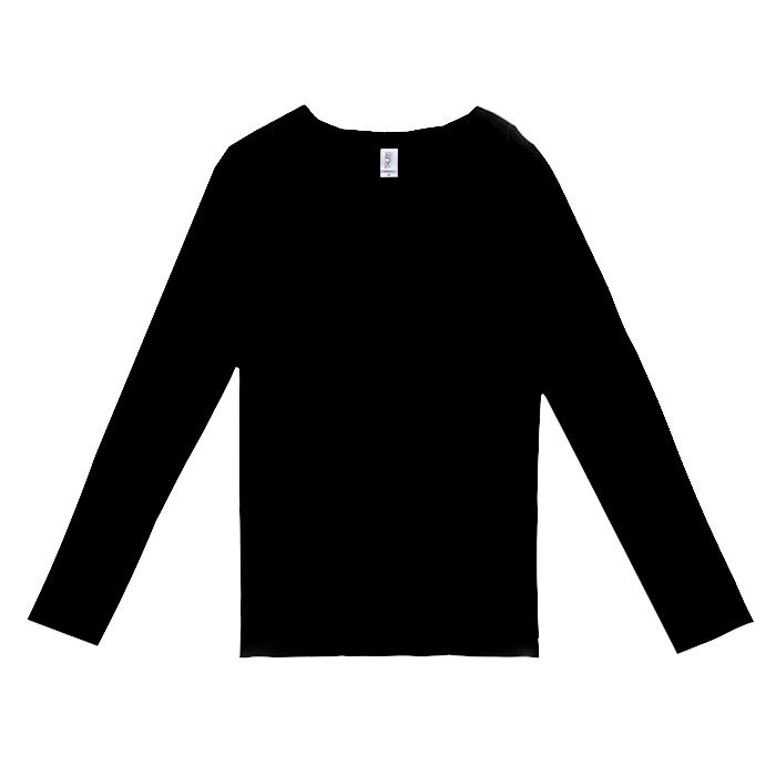 スリムフィットVネックロングスリーブTシャツ
