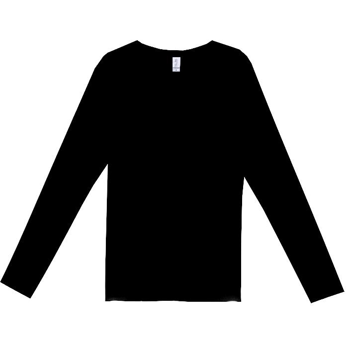 スリムフィットUネックロングスリーブTシャツ