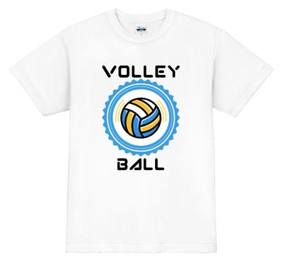 大きなバレーボールのプリントがインパクトたっぷり バレーボールTシャツ