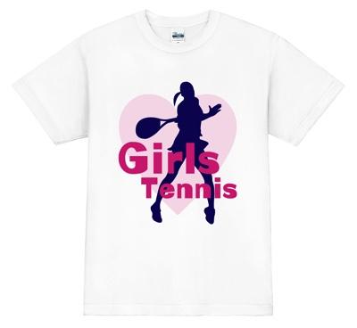 キュートなデザインでテニスのエースをねらえ!Tシャツ