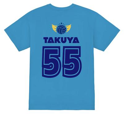 同系色で大人っぽい雰囲気のバレーボールTシャツ