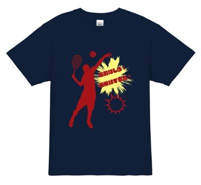 熱いメッセージのテニスTシャツ