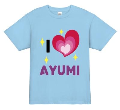 個性的なフォントのアイドル応援デザインTシャツ