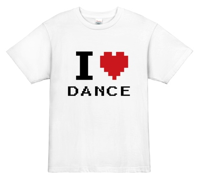 ダンスTシャツ|I love dance