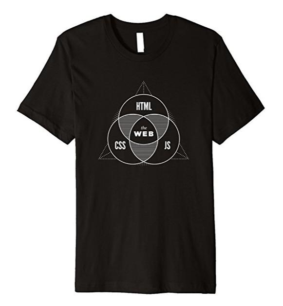 幾何学的なデザインがスタイリッシュなエンジニアTシャツ