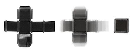 4Dプリントで製作された自動で平面から組み立てられる立方体