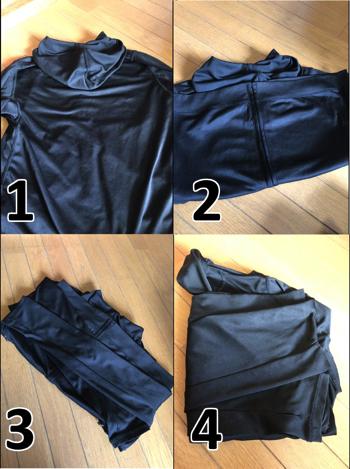 洗う前のパーカーの畳み方