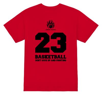オリジナル バスケットボールTシャツ 背番号入り