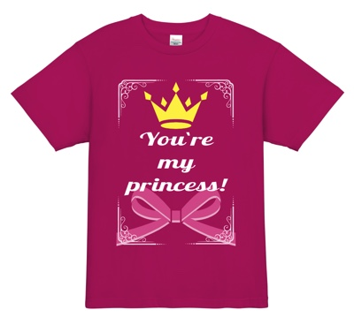推しメンをお姫様扱いしちゃおう!Tシャツ