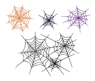 蜘蛛の巣スタンプ