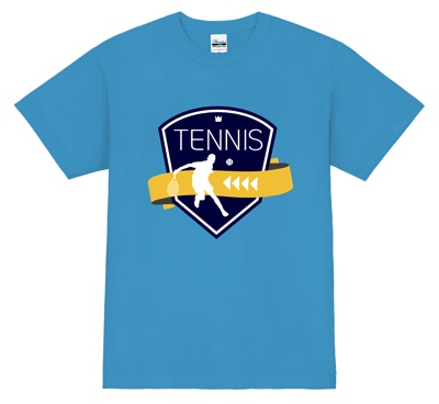 クールなエンブレムが格好いい!テニスTシャツ