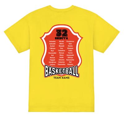 オリジナル バスケットボールTシャツ エンブレム風デザイン